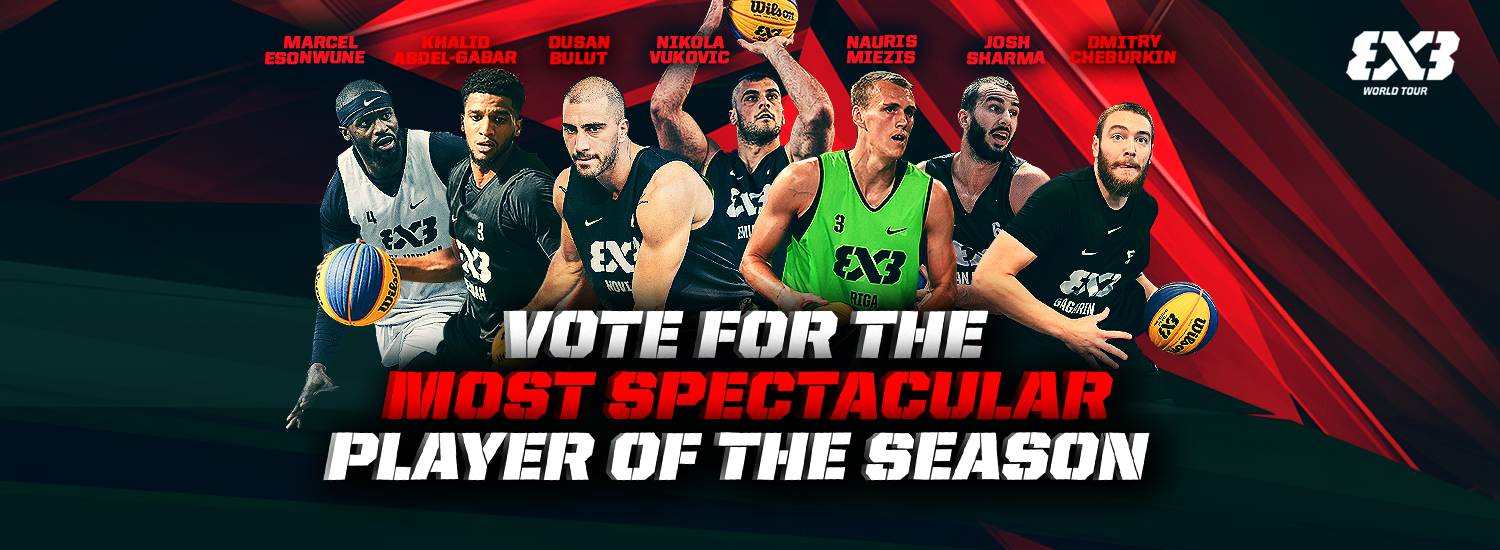 Fan vote open for Most Spectacular Player of FIBA 3x3 World Tour 2019