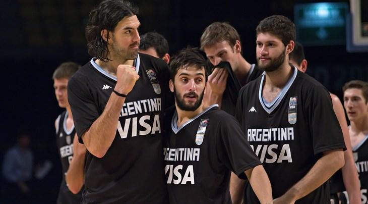 4 Luis SCOLA (Argentina); 7 Facundo CAMPAZZO (Argentina)