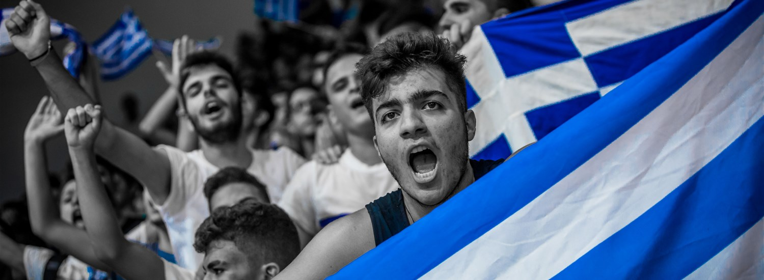 Supporters of Greece