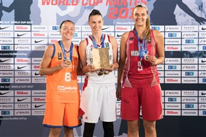 MVP Leshkovtseva stars on women's Team of the Tournament at FIBA 3x3 World Cup 2017