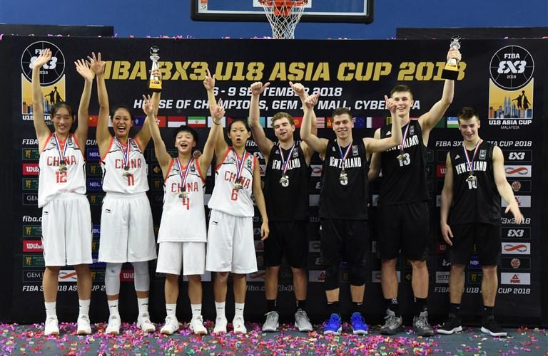 1a9bb0ec50 New Zealand s men and China s women win FIBA 3x3 U18 Asia Cup 2018