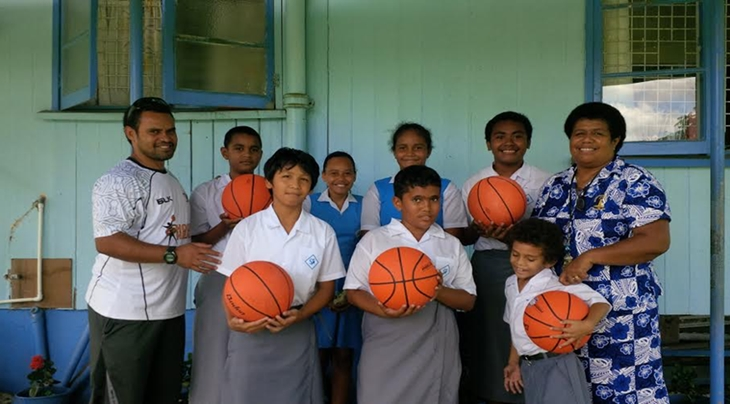Basketball Fiji Stella Marist Primary School equipment donation
