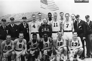Bill Russell and 1956 Olympic team