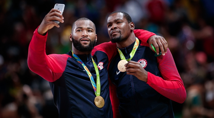 Former Kentucky Wildcats star DeMarcus Cousins helps United States of America win Olympic gold medal