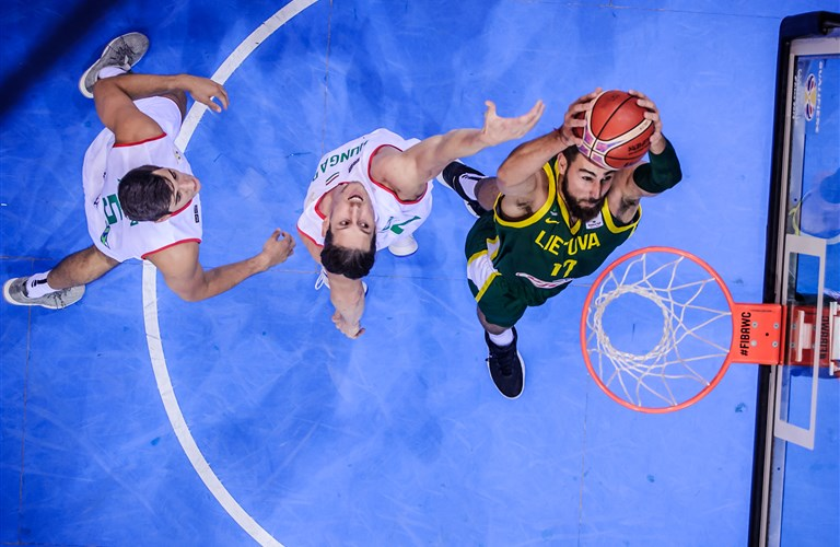 c8183bea4e06 It s all about the goose bumps for Jonas Valanciunas and Lithuania