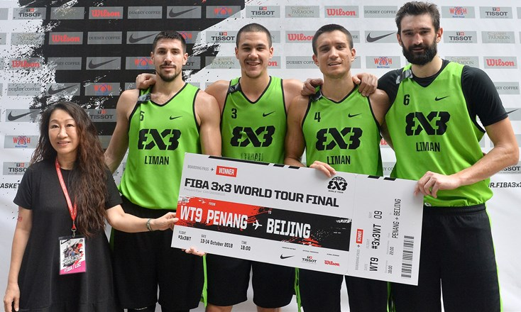 Liman Tesla Voda win their 3rd FIBA 3x3 World Tour Masters of the season in Penang