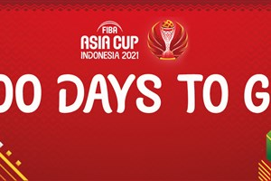 Players build up to mark 100 days left before FIBA Asia Cup 2021 with dazzling dribbling skills