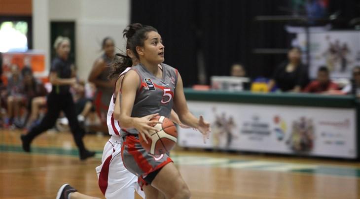 Leilani Tartas a égalisé à dix secondes de la fin pour la Nouvelle-Calédonie qui s'est finalement imposée contre Tahiti. (Photo Fiba.com)