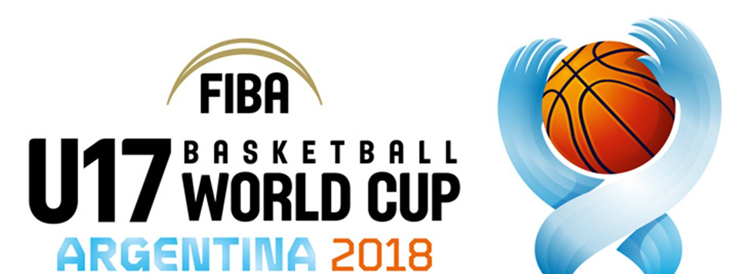 FIBA U17 Basketball World Cup 2018 logo inspired by host nation Argentina's national flag