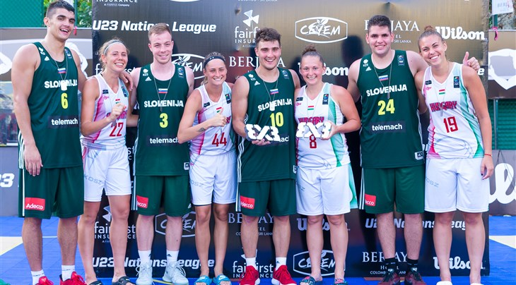 Slovenia's men and Hungary's women win FIBA 3x3 U23 Nations League 2017
