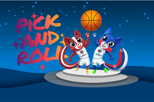 Fans vote Pick and Roll as official mascots of FIBA Women\'s EuroBasket 2019